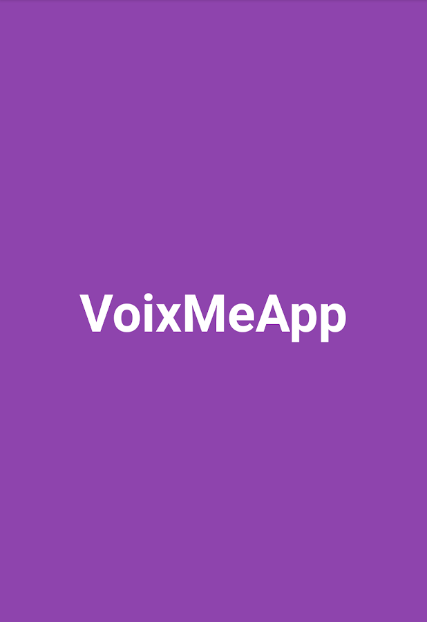 VoixMeApp- screenshot