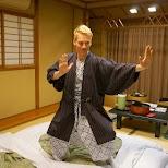 dressed in my Yukata in the $500 Ryokan at Senkei in Yumoto, Hakone in Hakone, Kanagawa, Japan