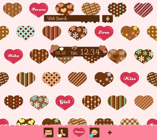 Wallpaper-Chocolate Hearts-