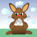 Rushing Bunny, help me to collect all the eggs icon