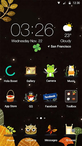 Forest Critters Hola Theme