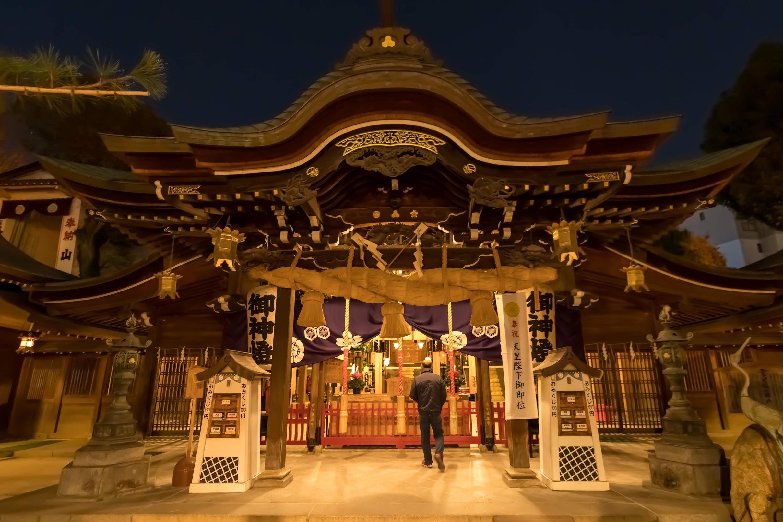 福岡 櫛田神社 夜2