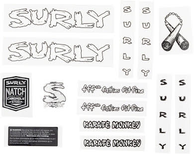 Surly Karate Monkey Frame Decal Set alternate image 0