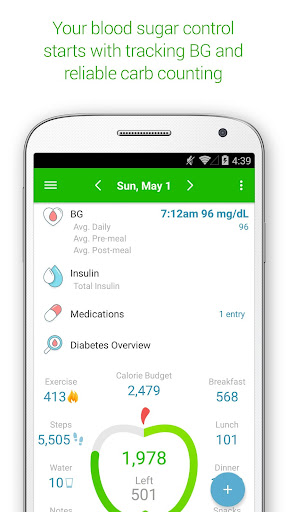 Diabetes & Diet Tracker screenshot for Android
