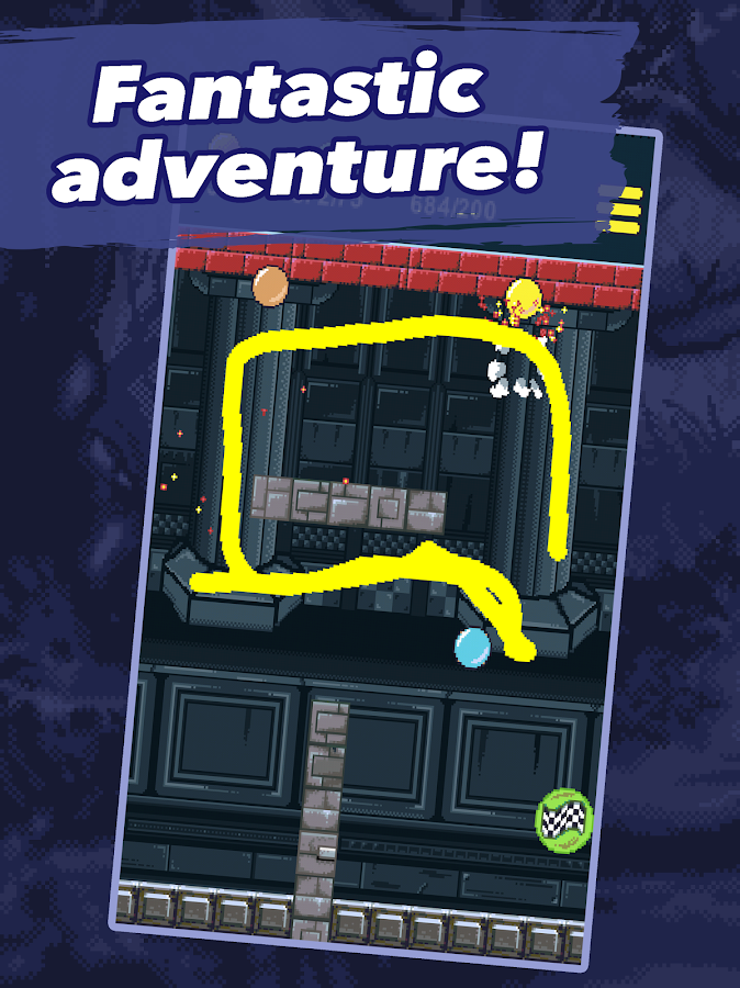 Draw a line adventure- screenshot