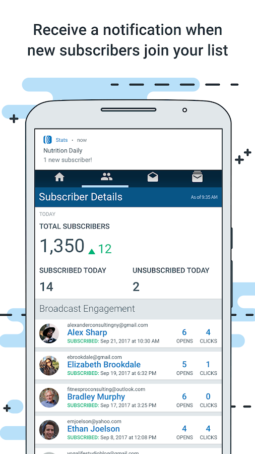 AWeber Email Stats on the Go- screenshot