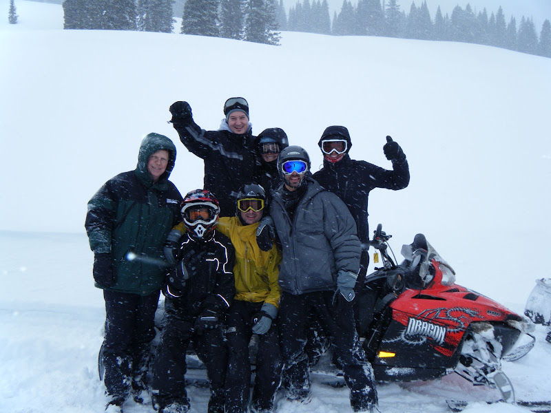 Photo: After our snowmobile ride