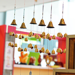 bells of life by Alice Chia - Artistic Objects Still Life ( different, copper, length, bells, golden )