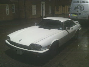 Photo: With few white V12 sports versions ever hitting the road, I imagine this: http://www.classiccarsforsale.co.uk/classic-car-page/96566/1988-jaguar-xjs/  is the car in question.