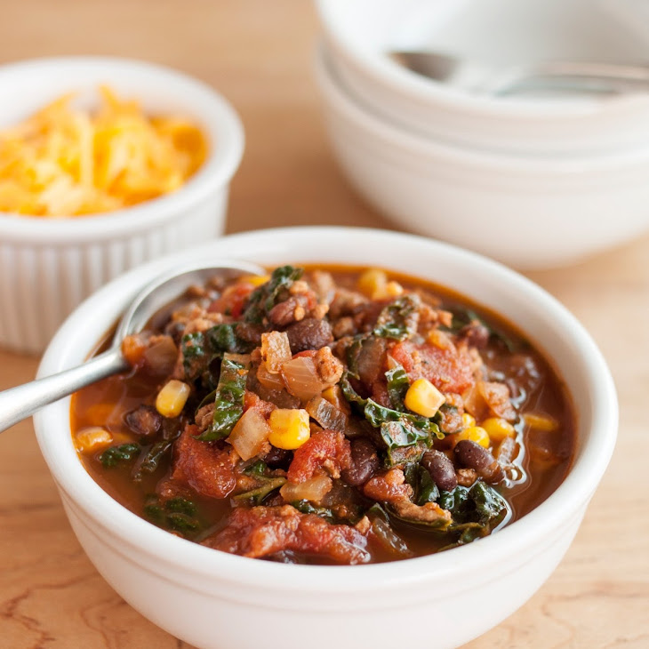 Easy Turkey Chili with Kale Recipe