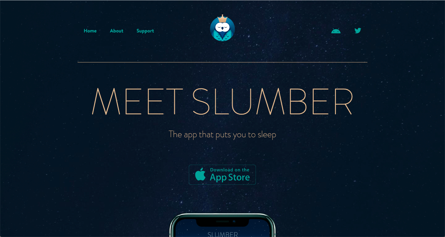 slumber website color schemes examples