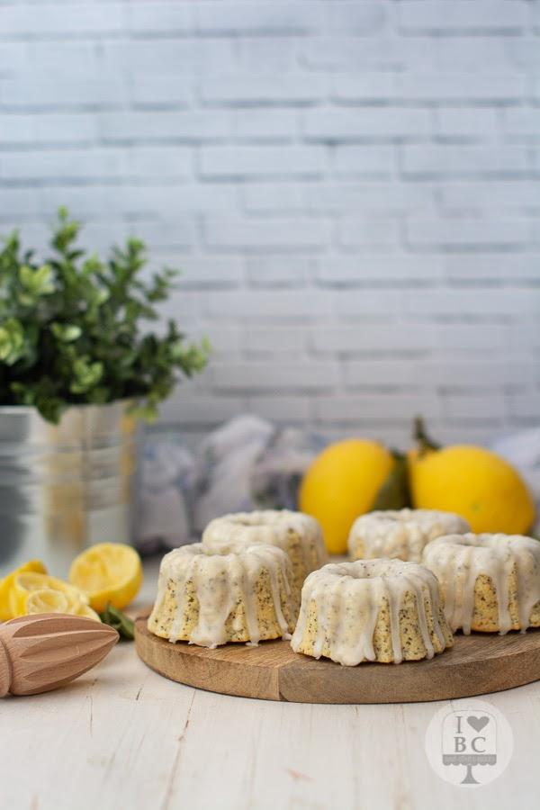 Mini Bundts cake de limón