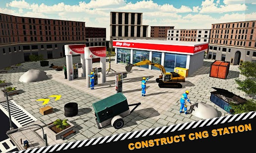 Highway Gas Station Construction, Build, Simulator - náhled