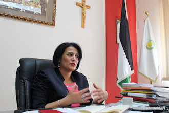 Photo: École grecque-catholique de Beit Sahour, Mme Sawsan, sa directrice