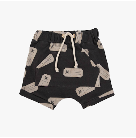 Dear Sophie Black Ticket Shorts