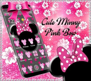 Pink Black Minny Bow Theme - náhled