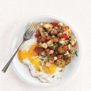 Turkey Hash With Fried Eggs.