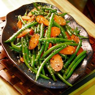 Ginger, Carrot and Sesame Green Beans.