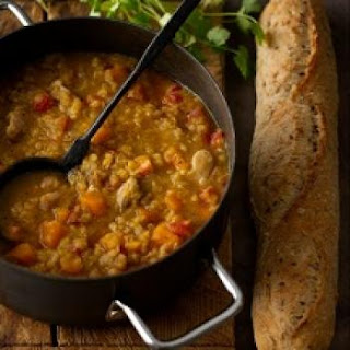 Curried Red Lentil Chicken Stew
