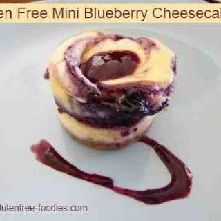 Gluten Free Mini Blueberry Cheesecakes ~ Sugar Free