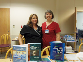 Photo: Judy Hawrysko and Elizabeth Brott at the certification information fair for nurses who are interested in pursuing specialty certification.