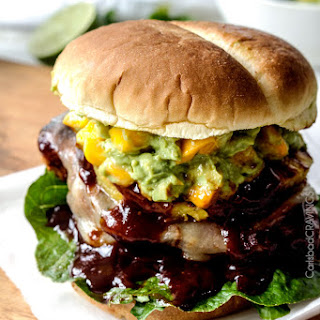 BBQ Chipotle Chicken Sandwiches (with Mango Guacamole)