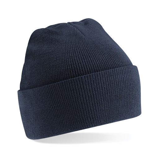 Beanie Hat with Cuff - Heather Grey