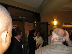 Photo: Karen Diebel speaking at the Mercantile Capital Corporation's Open House www.504LoanRefi.com