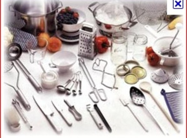 Miscellaneous Equipment Note: never use metal utensils to touch the hot jars, as they may...