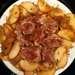 Savory Pork Medallions with Apples Recipe