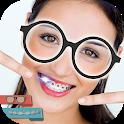 Nerd Stickers - Braces and Glasses Photo Editor icon