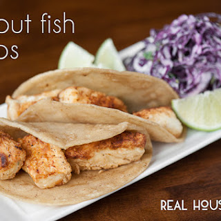 Halibut Fish Tacos.
