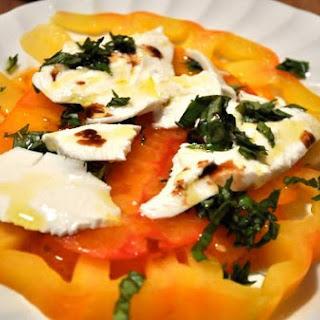 Heirloom Tomato Mozzarella Salad.