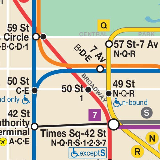 Nyc Simple Subway Map.Map Of Nyc Subway Offline Mta Apps On Google Play