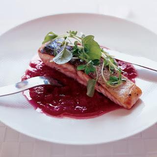 Sautéed Salmon with Rhubarb Marmalade