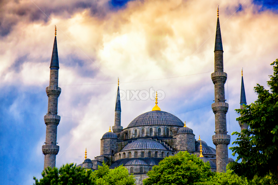 Blue Mosque by Rafael Uy - Buildings & Architecture Public & Historical ( blue mosque, blue, mosque, istanbul, turkey )