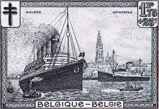 """Photo: """"Les sites"""" (2-12-1929). Port d'Anvers."""