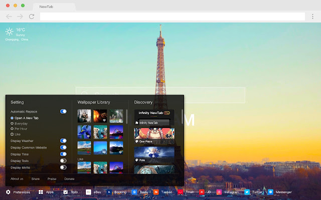Paris HD Wallpapers Cities New Tabs Themes