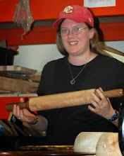 Photo: Rebecca Meyerson previewed the rolling pin challenge for next month.  She found the handles hard to make the same size...