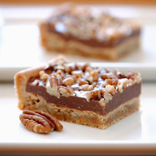 CHOCOLATE TOFFEE PECAN BARS ...sooo easy