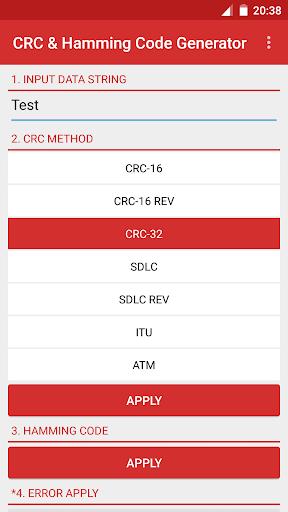 CRC Hamming Code Generator