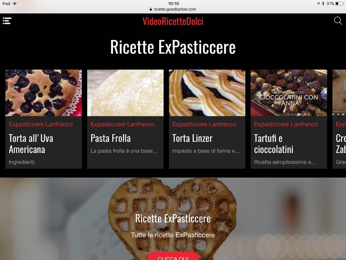 Video Ricette Dolci- screenshot