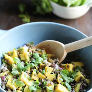 Mango Lentil Salad With Cilantro-Lime Dressing