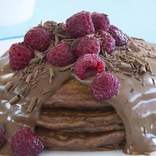 Chocolate Buttermilk Pancakes with Chocolate Custard
