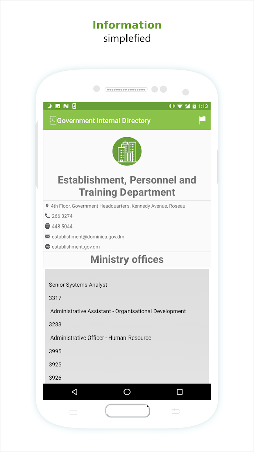 Dominica Government Directory- screenshot