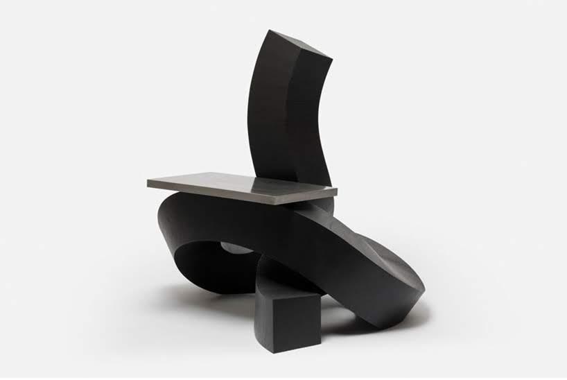 Estos muebles están diseñados inspirados en la escritura en pincel cursiva china