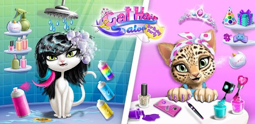 Cat Hair Salon Birthday Party - Kitty Haircut Care APK