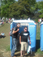 Photo: Wouter and Jim at the boy's bathroom on the South Launch