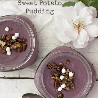 Purple Sweet Potato Pudding