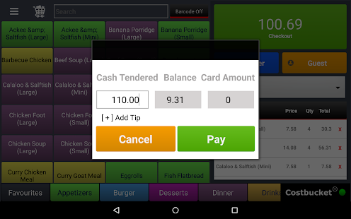 Costbucket Point Of Sale (POS)- screenshot thumbnail